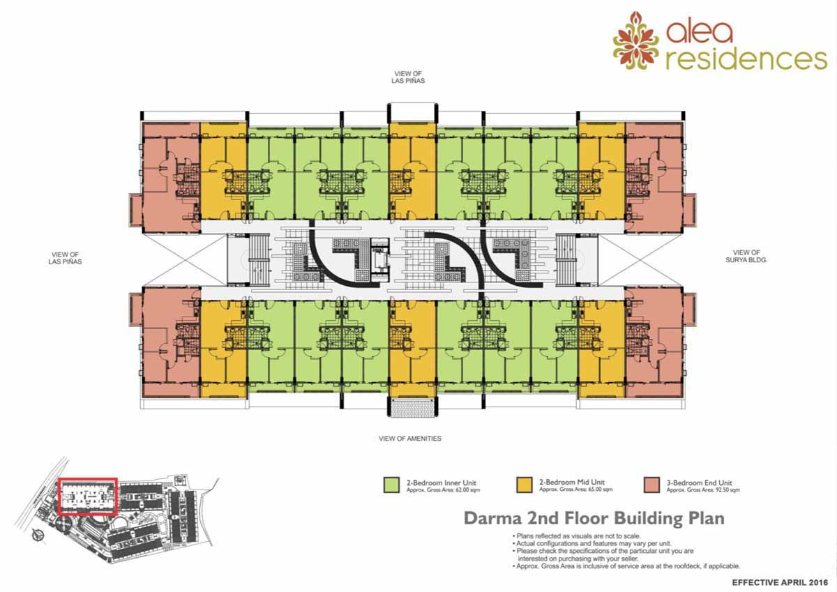 Alea Residences Darma Floor Plan 2F