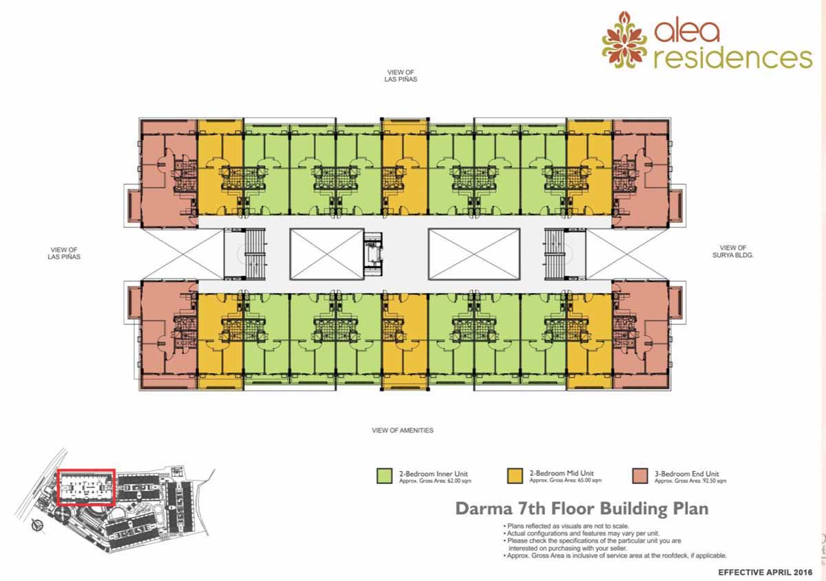 Alea Residences Darma Floor Plan 7F