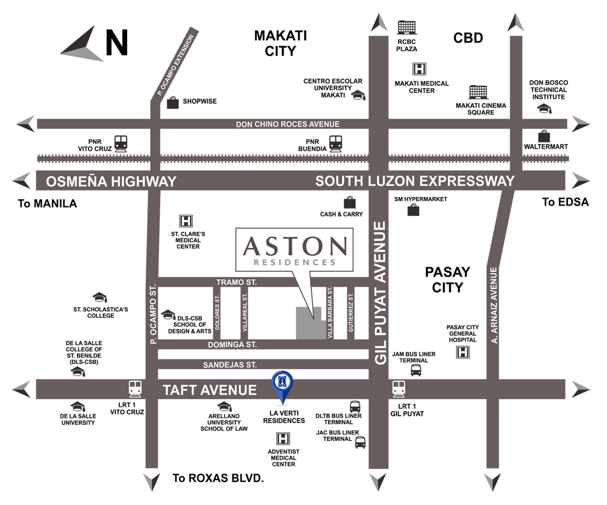 Aston Residences Location Map