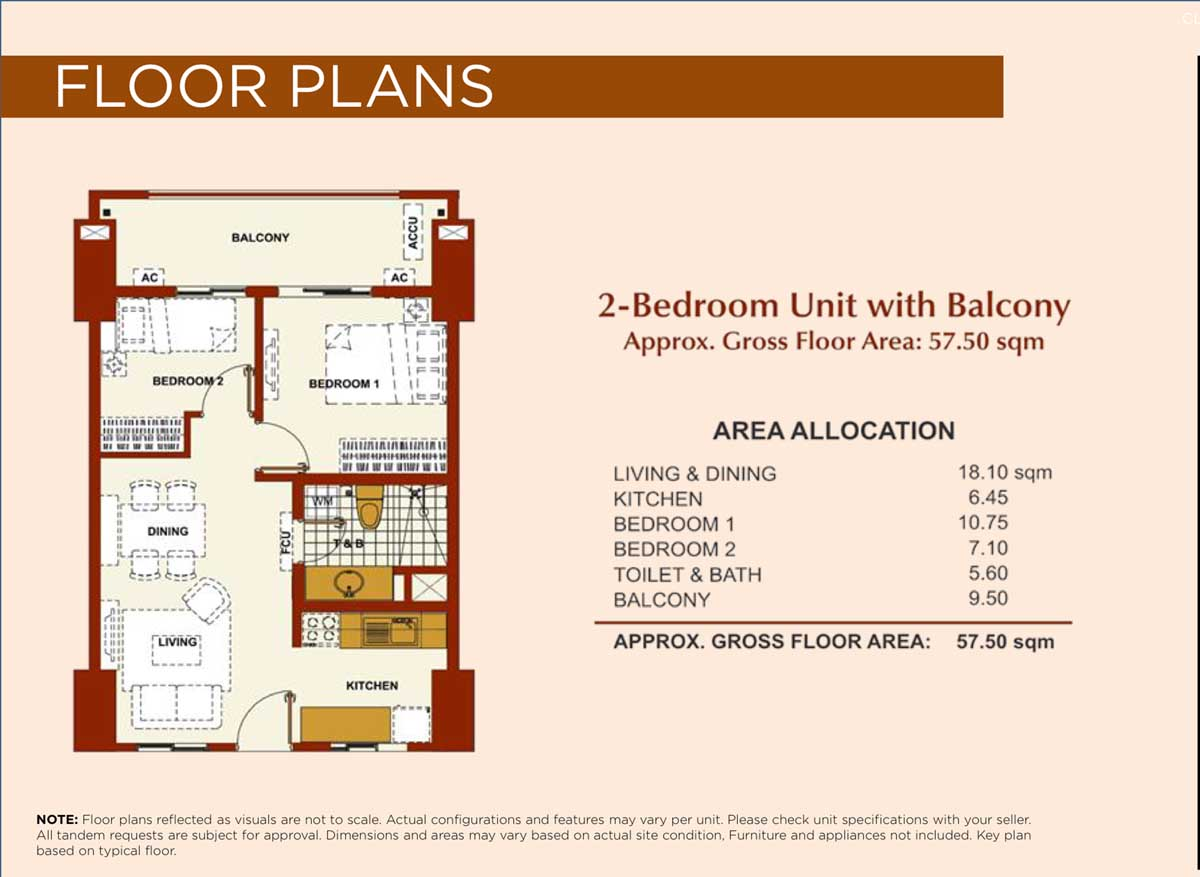 Brio Tower 2BR 57.5sqm Typical