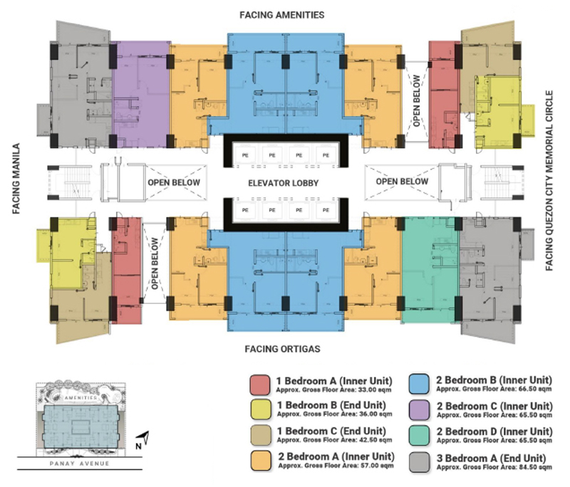 The Crestmont Floorplan 14-15F and 24-25F