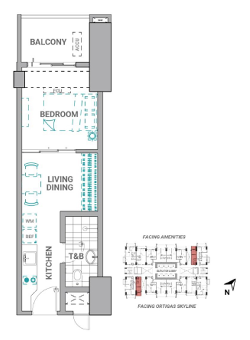 The Crestmont Floorplan 1BR A