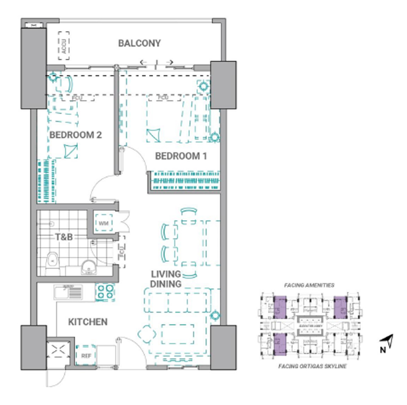 The Crestmont Floorplan 2BR C