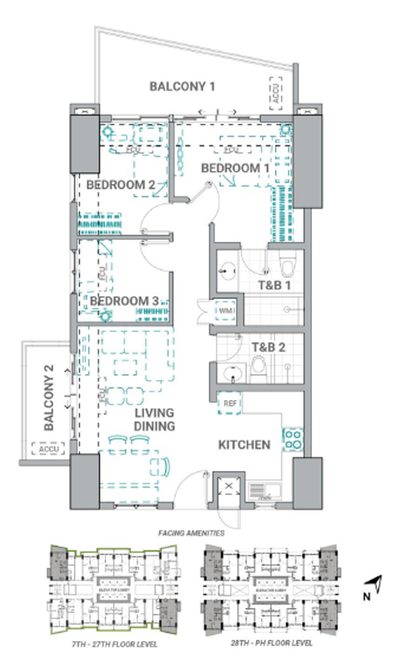 The Crestmont Floorplan 3BR