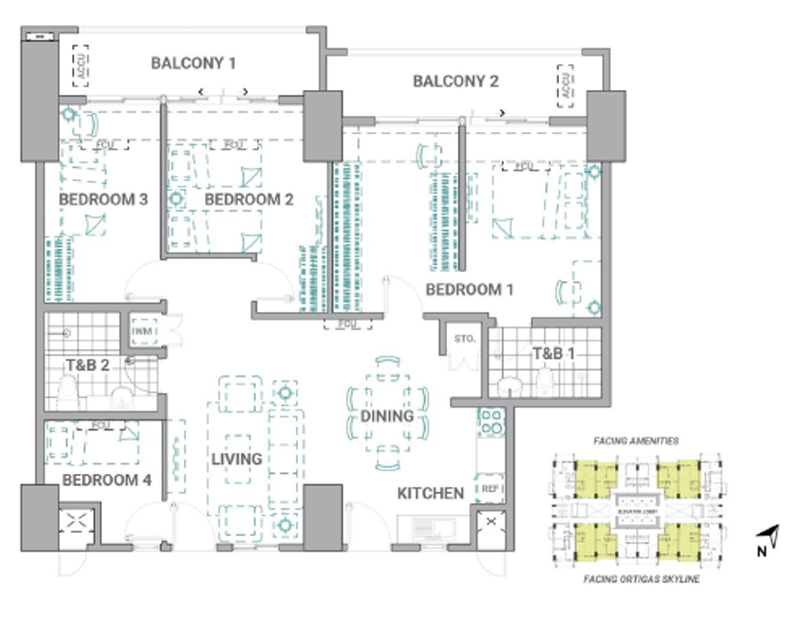The Crestmont Floorplan Tandem Unit A