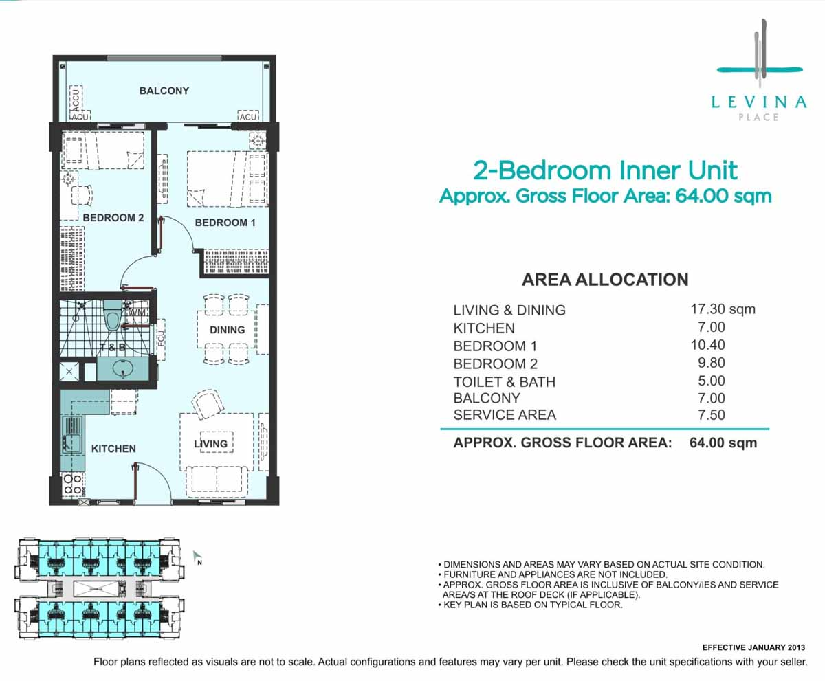 Levina Place 2BR Inner 64sqm