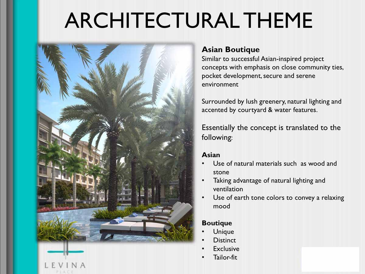 Levina Place Architectural Theme