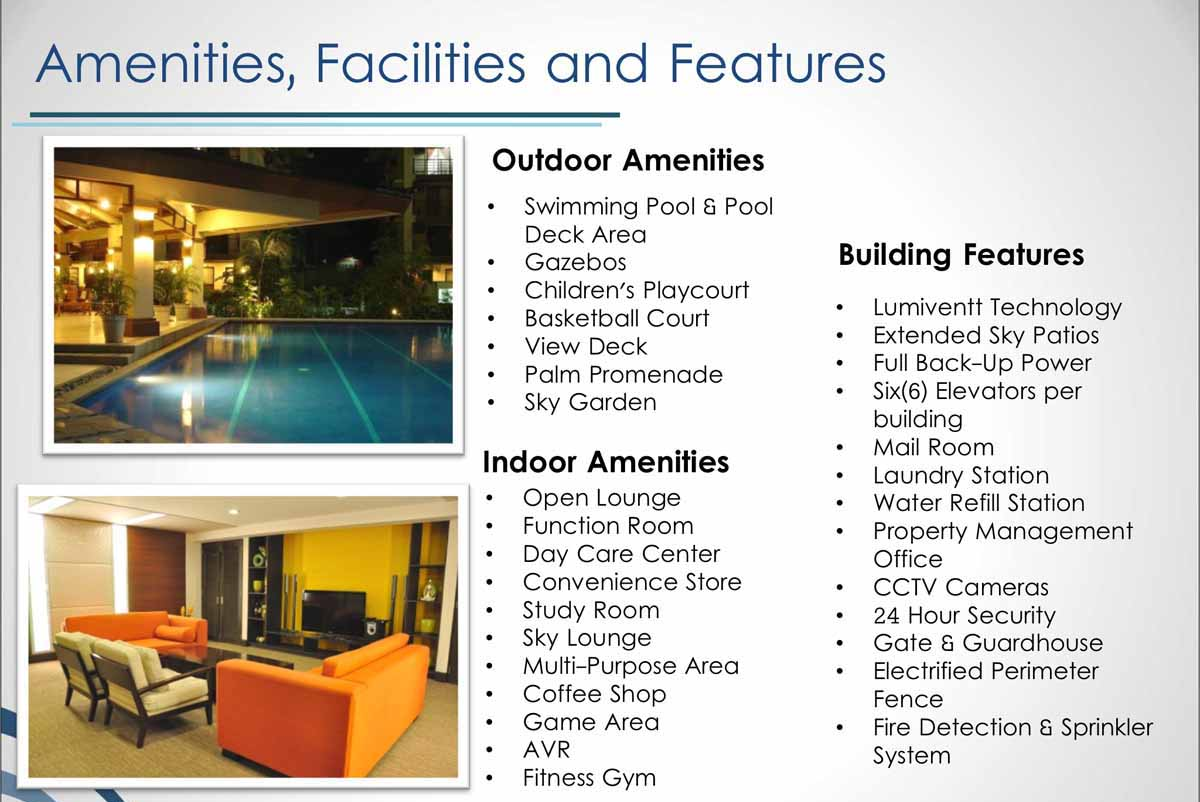 Lumiere Residences Amenities