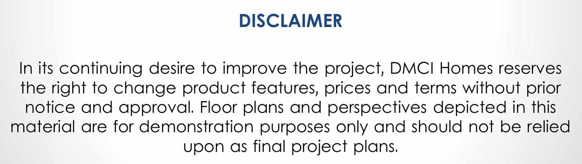 Lumiere Residences Disclaimer