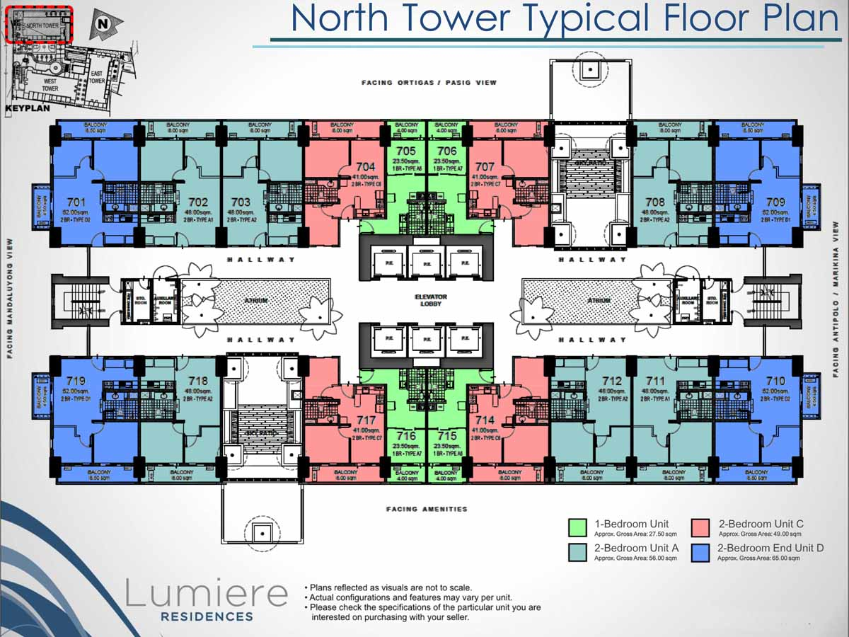 Lumiere Residences North Tower Typical Floor Plan