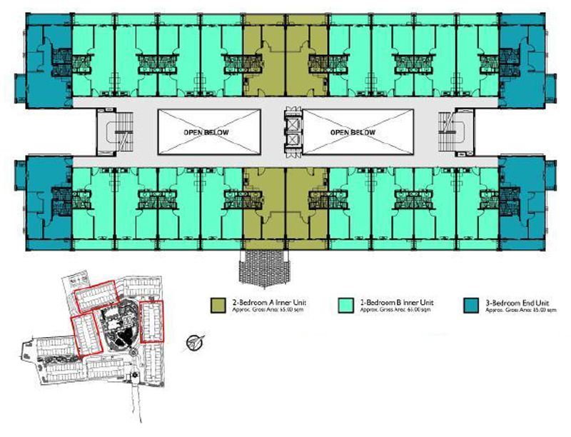 Mirea Residences Building Floor Plan B 2-7F