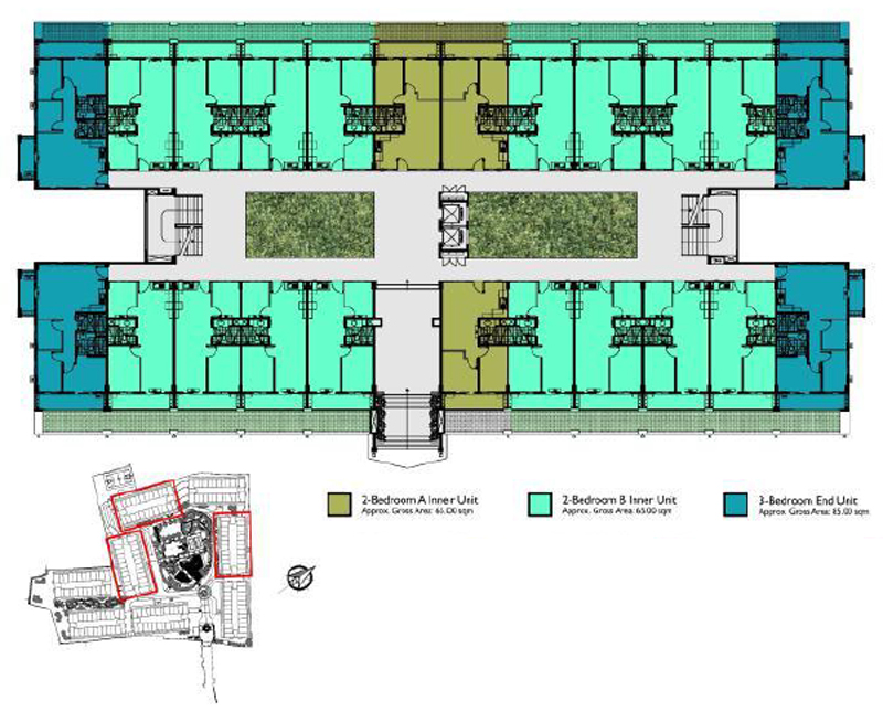 Mirea Residences Building Floor Plan B UG
