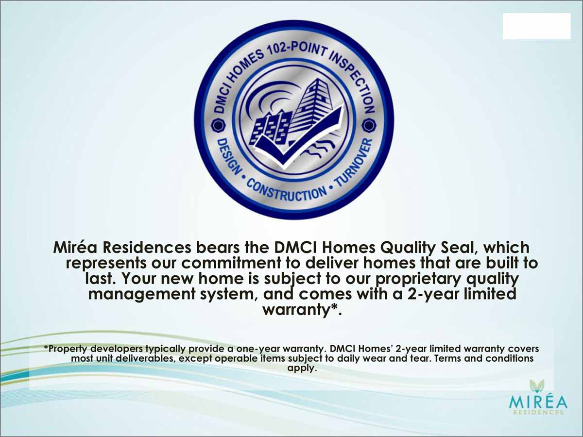 Mirea Residences Quality Seal