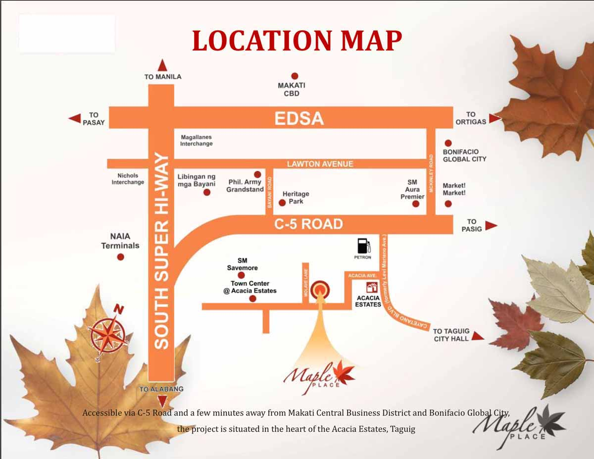 Maple Place Location Map