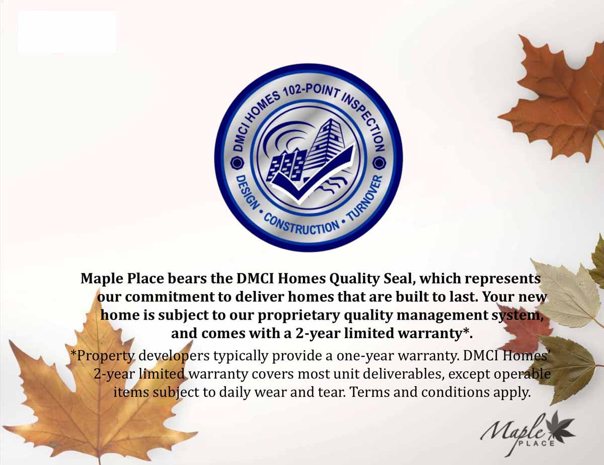 Maple Place Quality Seal