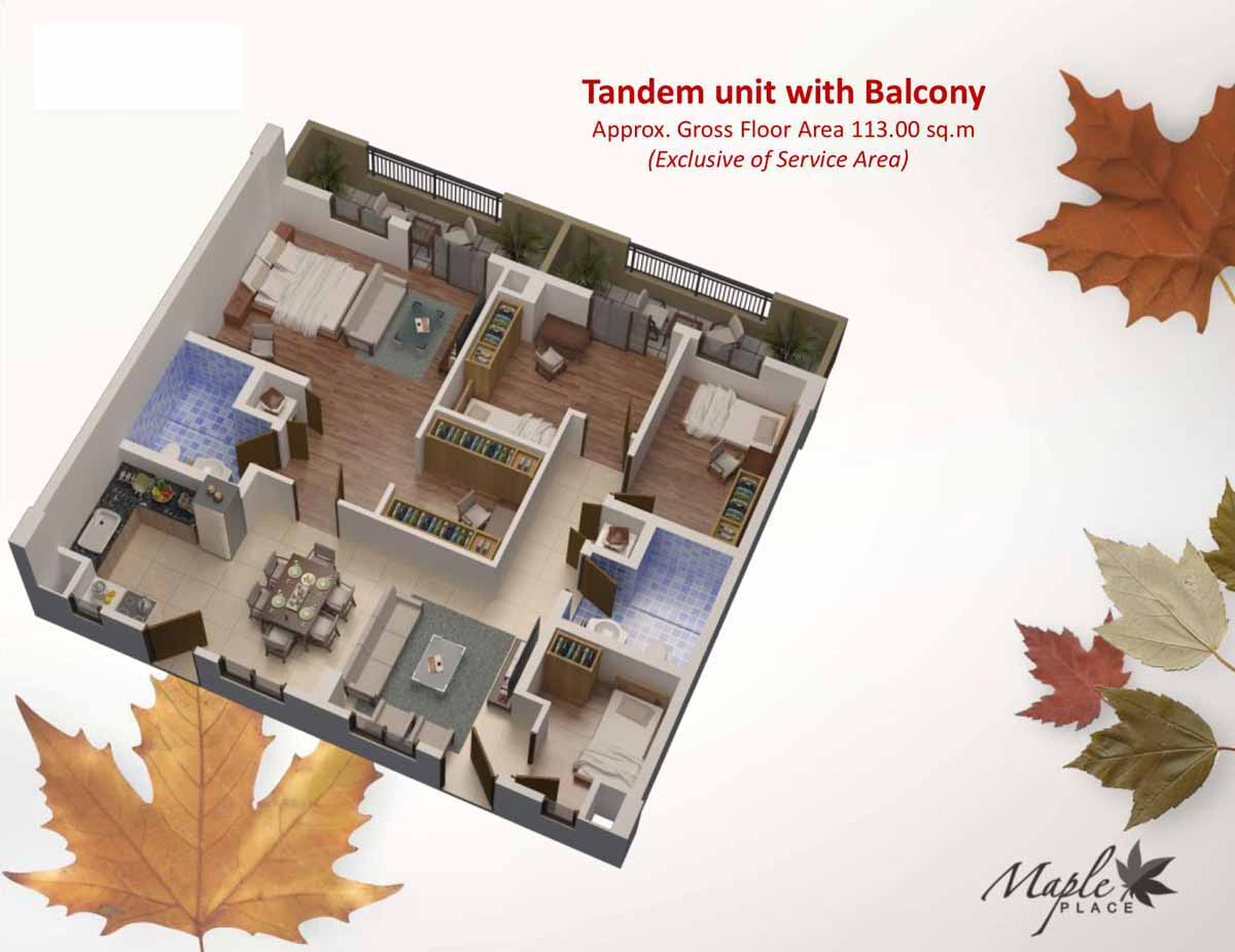 Maple Place Tandem 113sqm