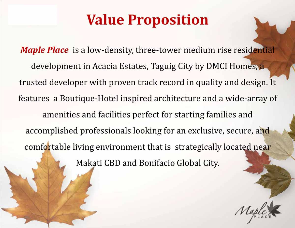 Maple Place Value Proposition