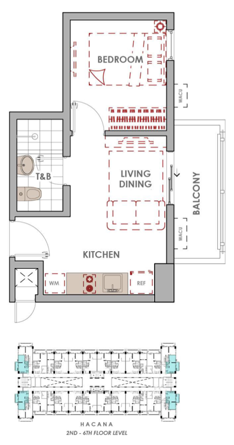 Satori Residences 1BR-C End Unit