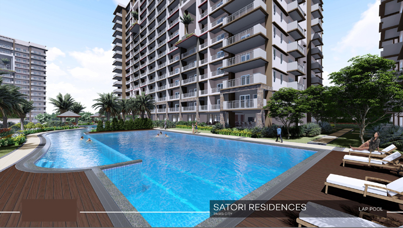Satori Residences Lap Pool
