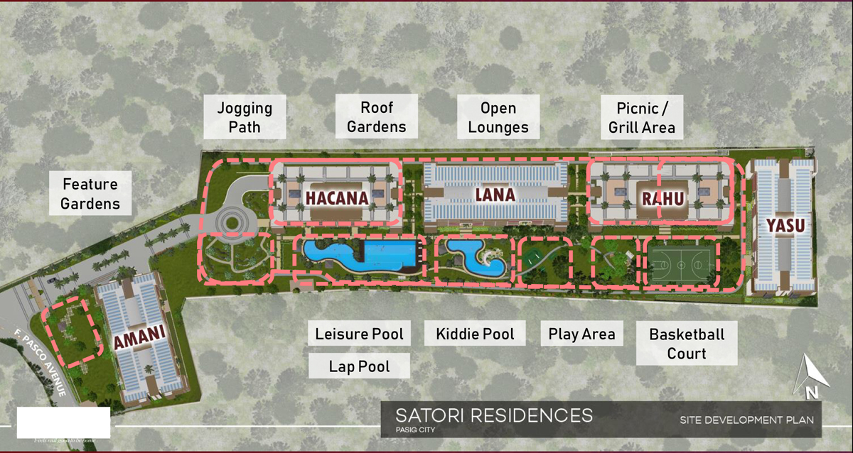Satori Residences Site Development Plan